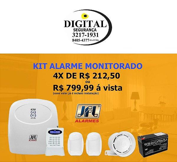 Kit Alarme Monitorado com 2 Sensores Instalado