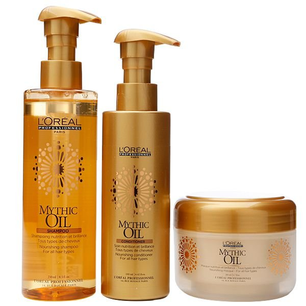 L'Oréal Professionnel Mythic Oil Treat Kit contém 3 Produtos
