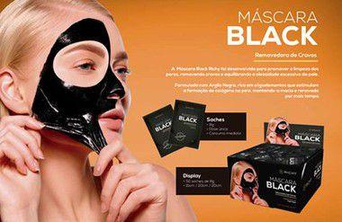 Richy Máscara Black - Removedora de Cravos - Caixa com 25 saches 8g