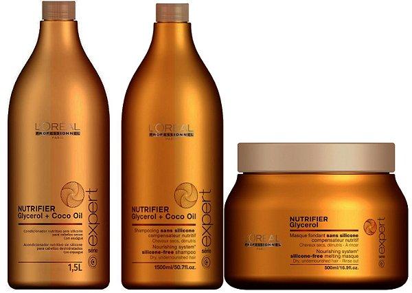 L'Oréal Professionnel  Nutrifier Serie Expert - Kit contém 3 produtos
