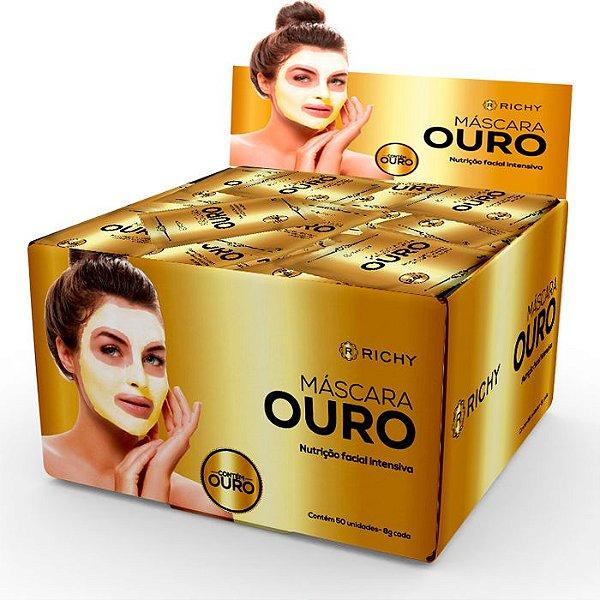 Richy Máscara Ouro - Nutrição Facial Intensiva 8g com 50 saches