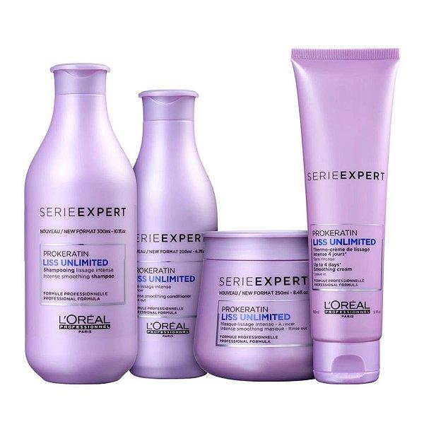 Kit L'Oréal Professionnel Liss Unlimited Completo (4 Produtos)