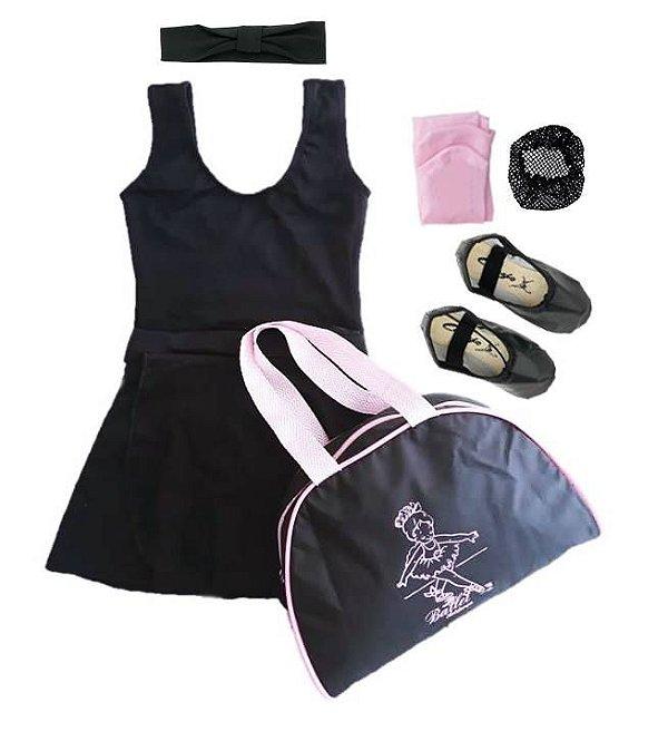 7993f4ba71 Roupa de ballet preta - Loja Mundo da Dança - Roupa de ballet