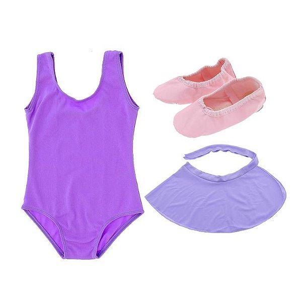 e0bdba965 Kit de Ballet lilás - Loja Mundo da Dança - Roupa de ballet