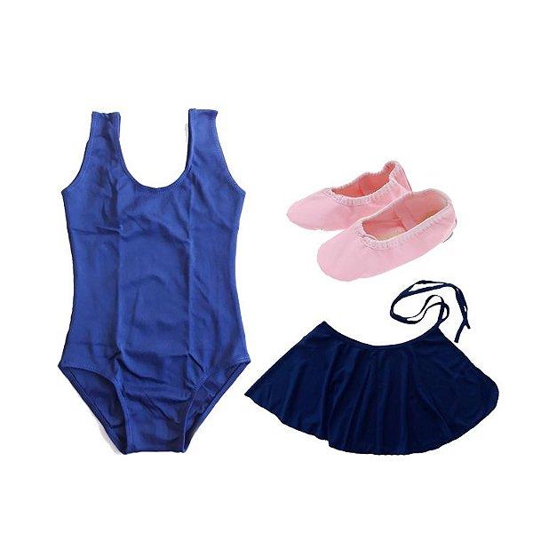 e2d028785c Kit de Ballet Azul Marinho - Loja Mundo da Dança - Roupa de ballet