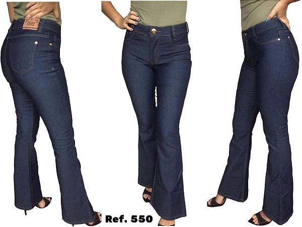 Calça Jeans Feminina Flare Cintura Alta