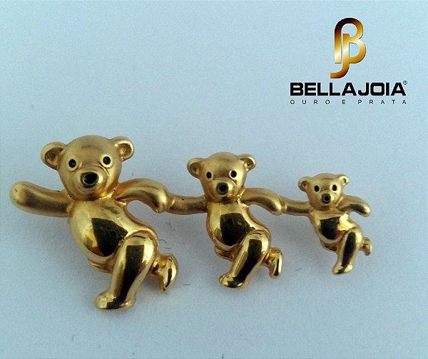 Pingente Fam Urso Ouro AmL19