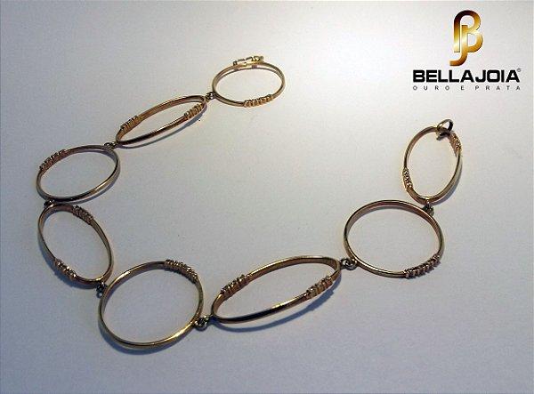 Pulseira Aros Ouro e Bril IY6162IC L86.3