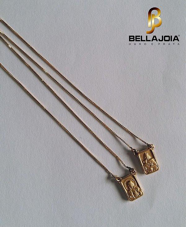 Escapulário Ouro 18k Veneziana L 11.8 DC