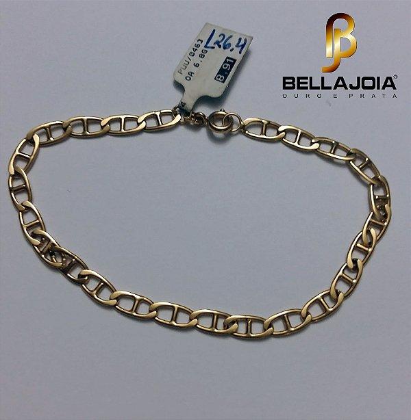 Pulseira Ouro 18k Unissex 21 cm L 26.4