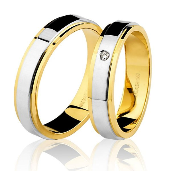 Aliança Ouro 18K Feminina Diamante  76.0142.4002