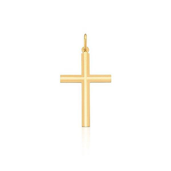 Pingente Cruz Ouro Amarelo 18k L 4.7