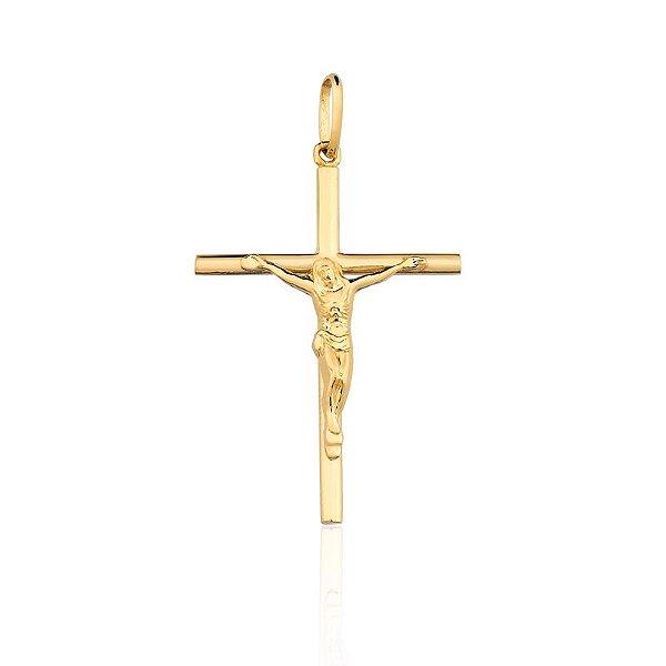 Pingente Crucifixo Ouro Amarelo 18k L 7.1