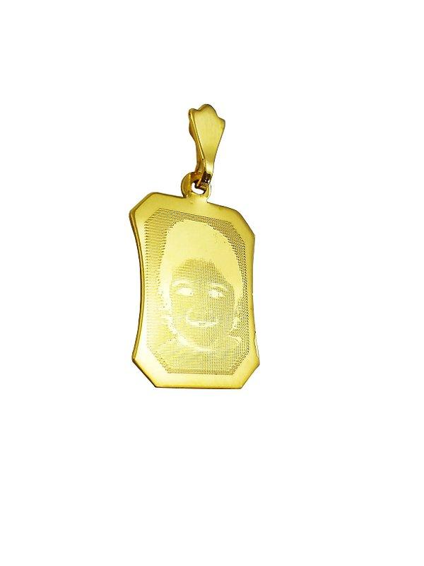 Pingente Ouro 18k Fotogravado L 10.3
