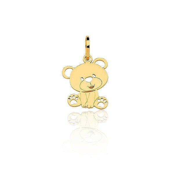 Pingente Ouro 18k Urso Vazado L 2.9