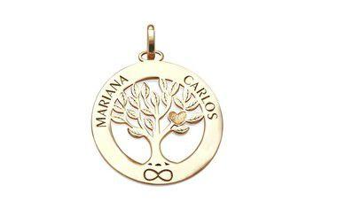 Pingente Árvore da Vida com Nomes Mariana Carlos VD 111