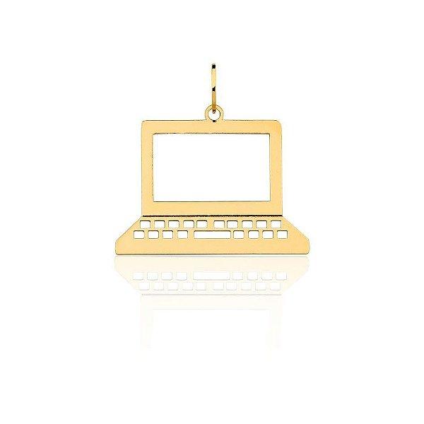 Pingente Ciência da Computação Ouro Amarelo 18k L 4.6