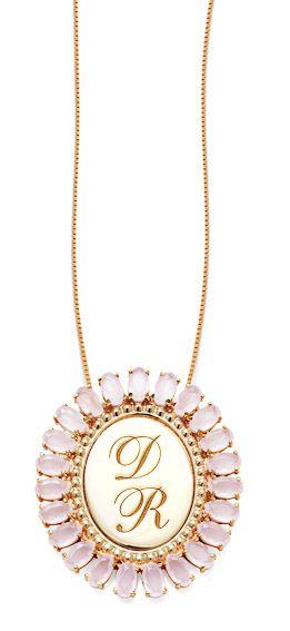 Gargantilha Prata Banho de Ouro Zircônia Rosa Oval Personalizada até 3 Letras VD 269
