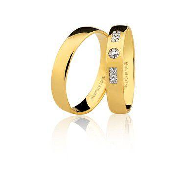 Par Alianças Ouro Amarelo 18k Ref 75.0316.2000 e 76.0316.2008