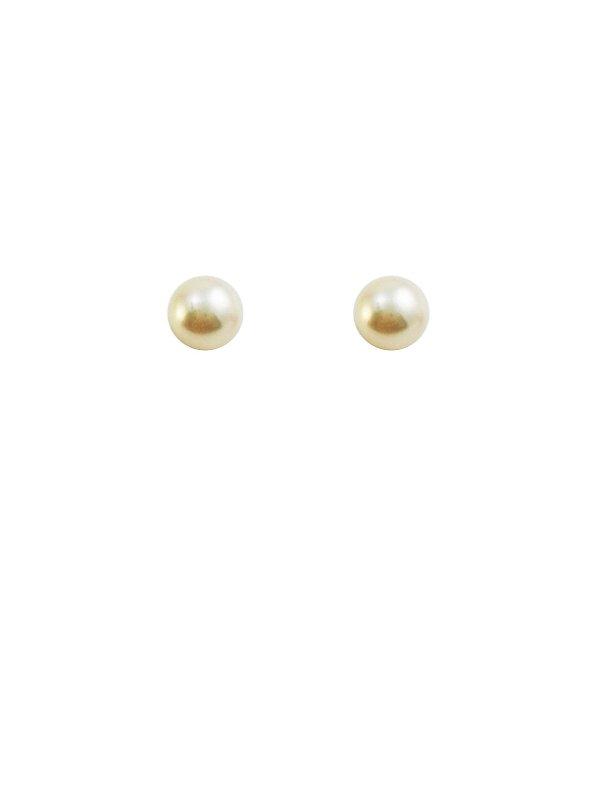 Brincos Ouro 18k Perola Solitário L 2.5