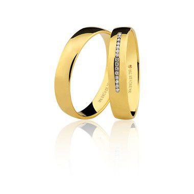 Par Alianças Ouro Amarelo 18k Ref 75.0316.2000 e 76.0316.2006