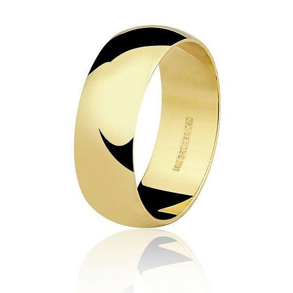 Aliança Ouro Amarelo 18k Tradicional Ref 75.0036.2000
