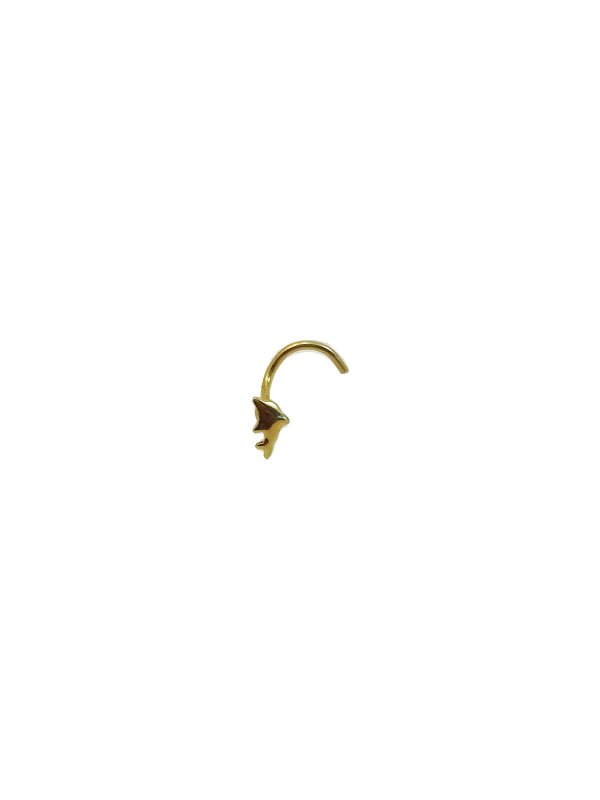Piercing Nariz Golfinho Ouro Amarelo 18k L 2.5