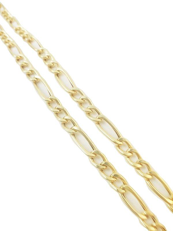 Corrente Elos 3 x 1 Ouro Amarelo 18k L 37.7