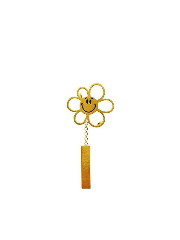 Broche Flor Ouro Amarelo 18k L 11