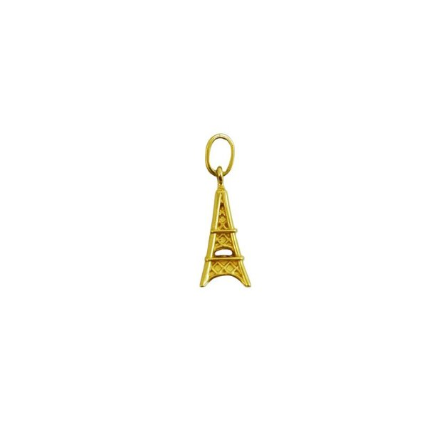 Pingente Ouro Amarelo 18k Torre Eiffel L 5.9