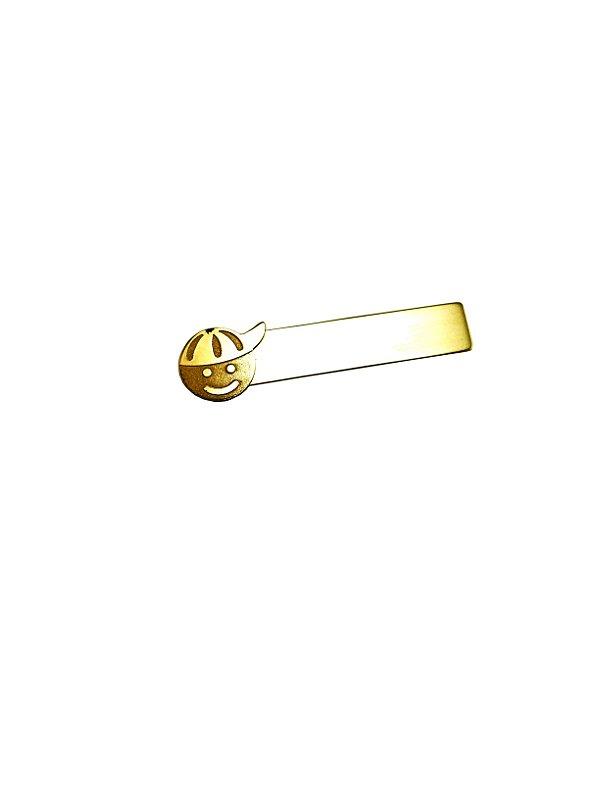 Broche Infantil Plaquinha Menino Ouro Amarelo 18k L 3.9