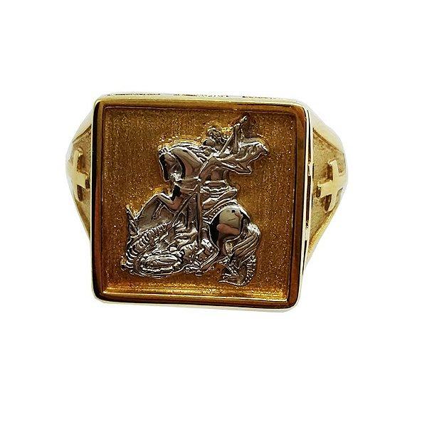 9a5cb25053 Anel Ouro 18k Quadrado São Jorge L 43.8