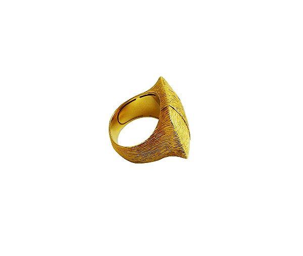 Anel Ouro Amarelo Fosco Trabalhado L 58.6