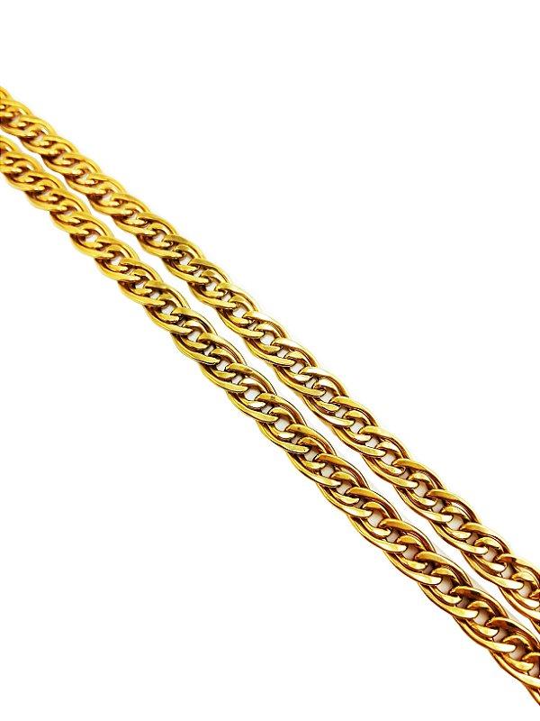 Corrente Elo Duplo em Ouro Amarelo 18k L 74