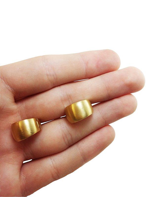 Brincos Argola Acetinada Ouro 18k L 37.9