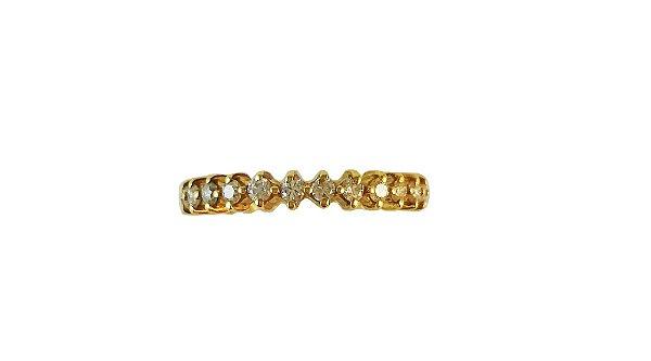 Anel Aparador em Ouro Amarelo 18k com Diamantes L 43.2