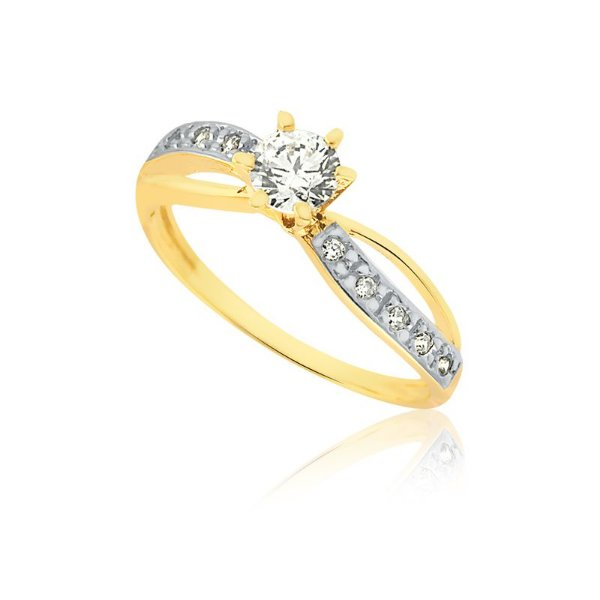 Anel Noivado Ouro Amarelo 18K L 10.5