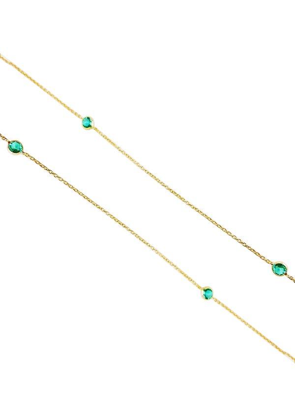 Colar Tiffany Prata com Banho de Ouro VD 88