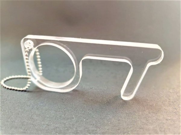 Chaveiro Anticontato Tipo Iron Finger Acrílico Resistente