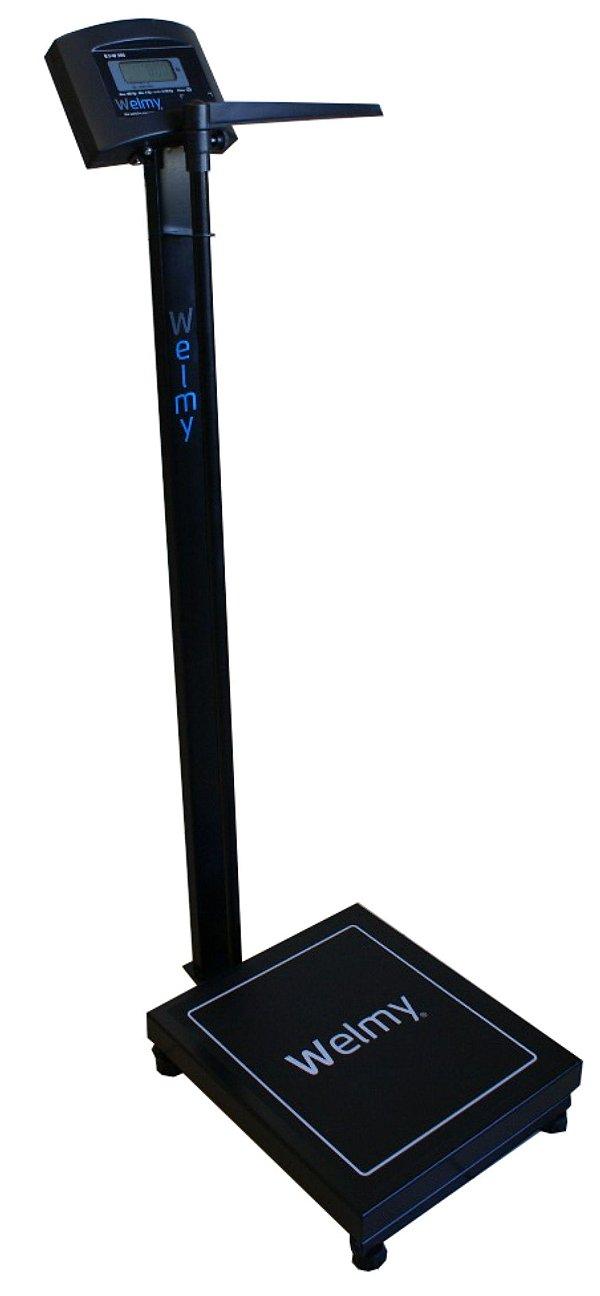 Balança Antropométrica Eletrônica 200 Kg X 100g Welmy Preta