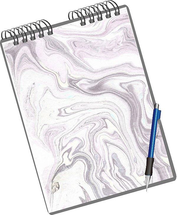 Miolo Digital Papel Marmorizado - Folhas de Guarda/Capas