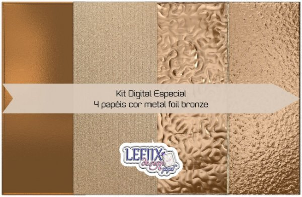 Kit Digital Especial Foil Bronze