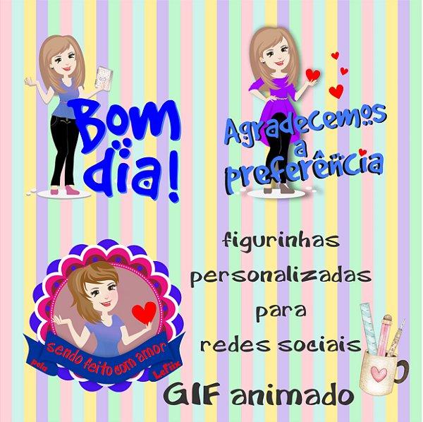 Arquivo Digital Pacote Animado Personalizado de figurinhas Redes Sociais