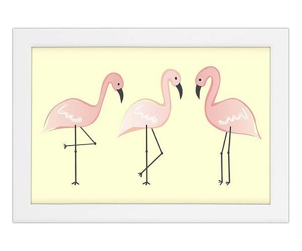 Quadro de Flamingos