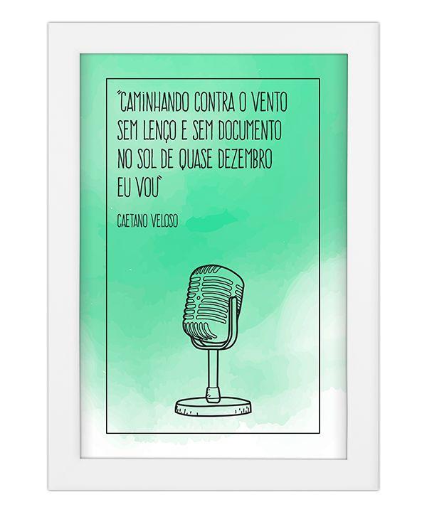 Quadro Tropicália - Caetano Veloso