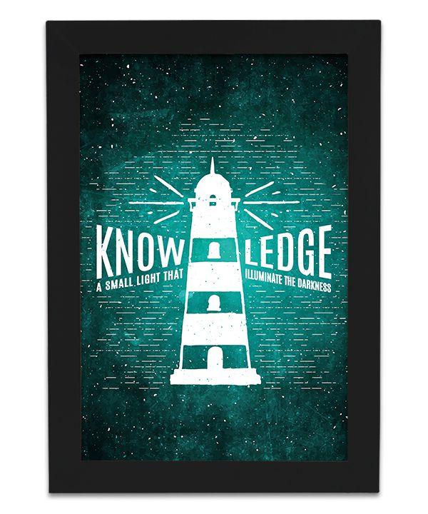 Quadro de Frase - Knowledge