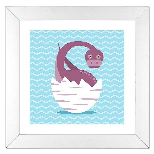 Quadro Infantil Braqueossauro - Coleção Baby Dino