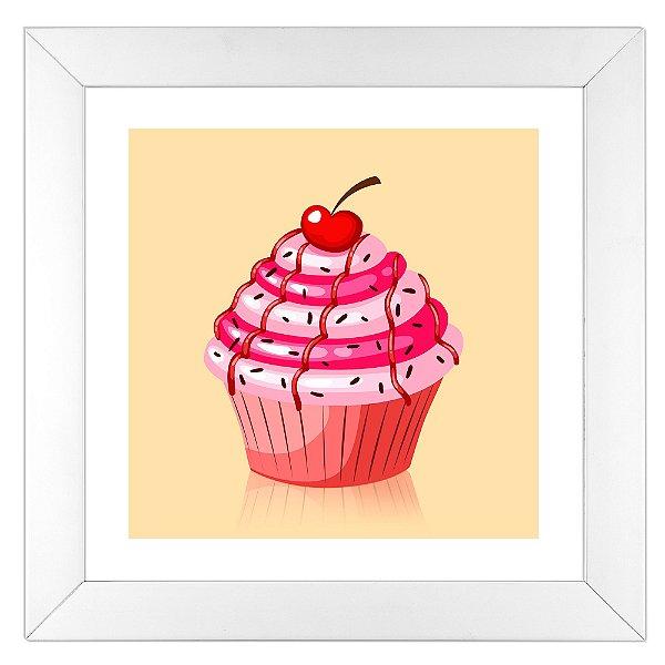 Quadro para cozinha cupcake de cereja na loja quadrinhos for Objetos decorativos minimalistas
