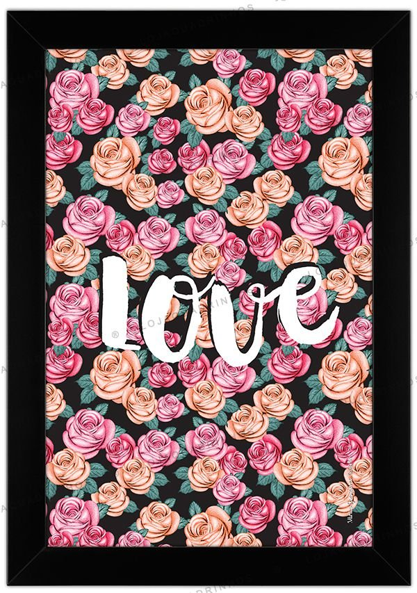 Quadro Rose Love by Vânia Gonçalves