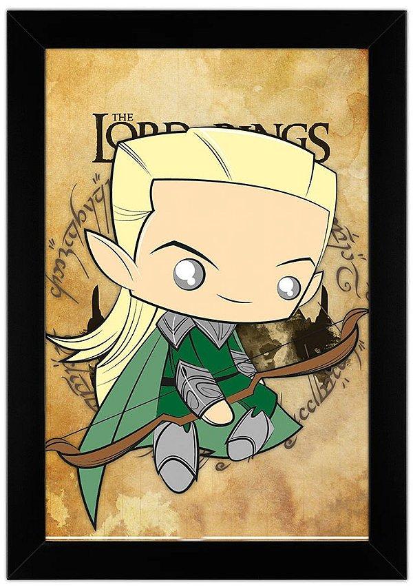 Quadro Senhor dos Anéis - Legolas by Toonicos